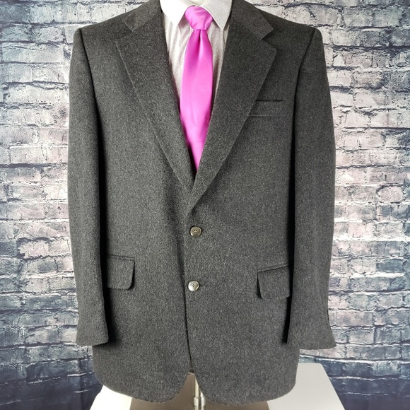 Burberry Other - Burberry 100% Grey Cashmere Jacket 42R